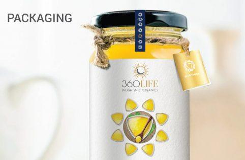 360 life web Packaging design